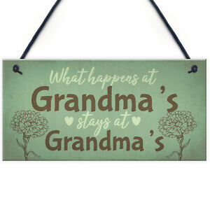 Image Is Loading Grandma Gifts For Nan Nanny Hanging Garden Sign