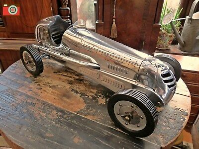 Bugatti Inspired Racing Car SILVER RACER DESKTOP MODEL Authentic Models PCO10R