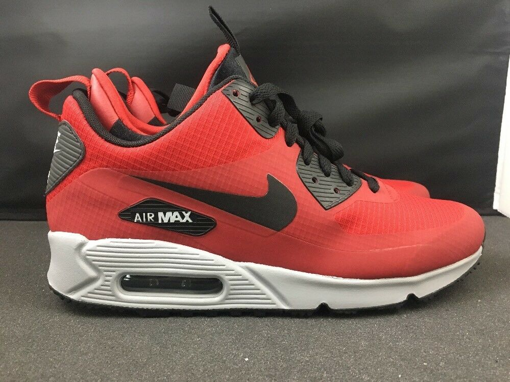 Nike Air Max 90 Mid Winter Men's Shoes Running Red/Black Size 8 806808-600