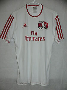 save off 38e0b a28aa AC MILAN ITALY AUTHENTIC ADIDAS WHITE TRAINING JERSEY SMALL ...