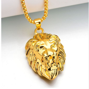 16ea9c924 Image is loading Mens-Lion-Pendant-Necklace-Chain-Jewellery-Fashion- Accessories-