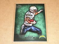 2012 Topps Inception Ryan Mathews 28 Green Sp/75 Eagles - Chargers Fresno St