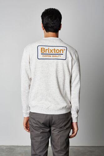Brixton supply co palmer fleece crew heather stone