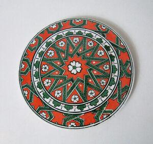 Rond-de-ceramique-faience-a-poser-ou-a-suspendre-vintage-16cm