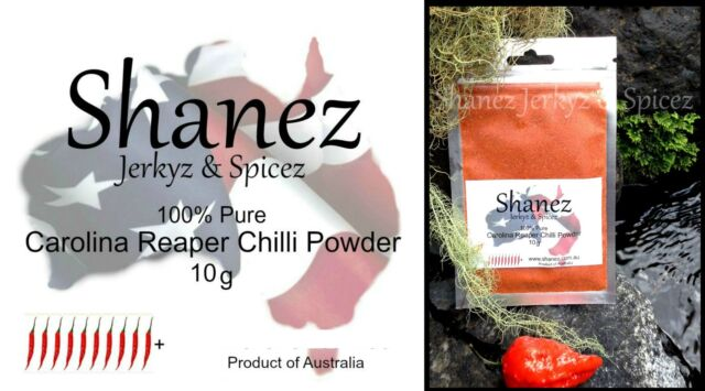 Carolina Reaper Powder -10g  WORLDS HOTTEST SHANEZ Chilli Chili