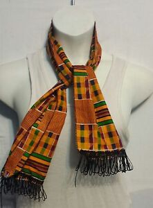 African Kente Cloth Neck Head Scarf Scarves Tie Wrap Dashiki Shemagh P03 1 Size