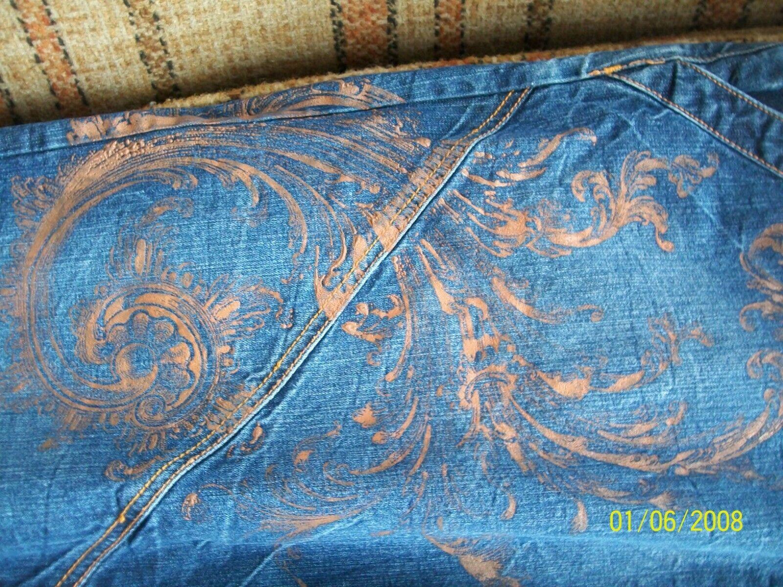 Phat Farm Mens 40x34 (Actual 38x33.5) bluee Jeans 100% Cotton