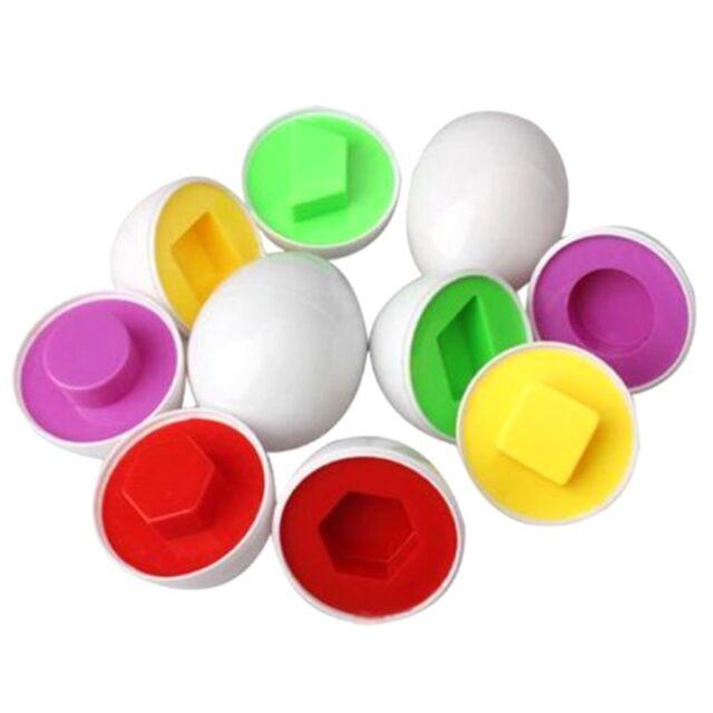 Educational Toys Pairings Smart Egg Capsule Study Color Shape Children Blocks