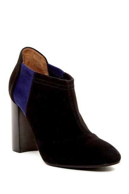 WOMENS AQUATALIA BOOTS Vale Black bluee Suede Waterproof Ankle Bootie 8.5  495