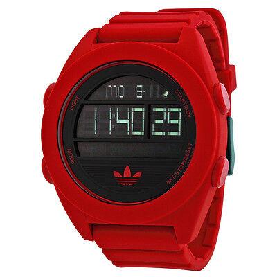 Adidas Santiago XL Digital Dial Red Silicone Strap Mens Watch ADH2909