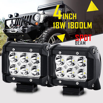 52INCH 700W+4X 18W LED WORK LIGHT BAR SPOT/&FLOOD DRIVING FOR JEEP FORD TRUCK ATV