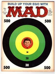 Mad Magazine #71 1962 Kelly Freas Cover EC Comics VF 8.0