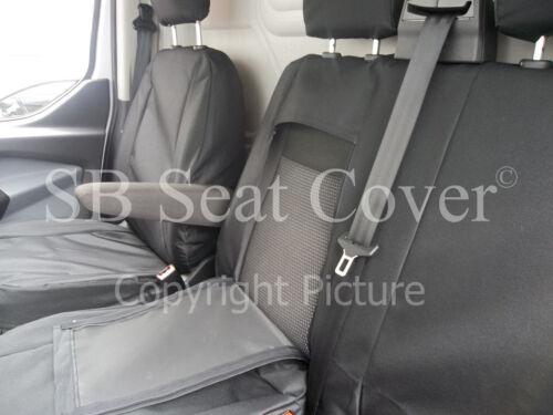 MERCEDES SPRINTER 2000-2005 VAN SEAT COVERS BLACK WATERPROOF MADE TO MEASURE
