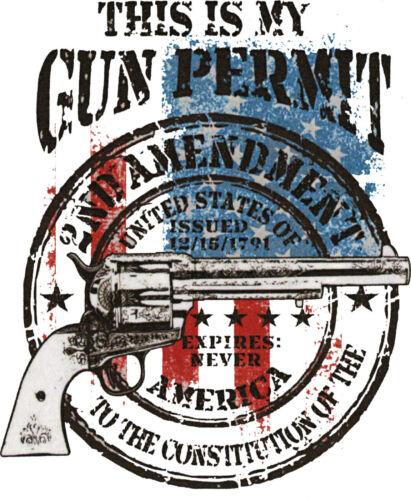 This My Gun Permit 2nd Amendment T Shirt American Constitution