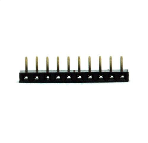 200pc Pin Female Header Pitch=2.54mm H=8.5mm Right Angle 90° 1x5p 1x5 5p RoHS