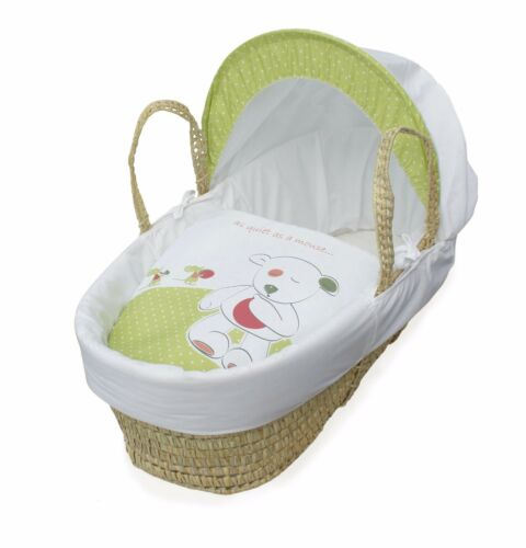 Palm Moses Basket and Natural Rocking Stand Quiet.Little Mouse