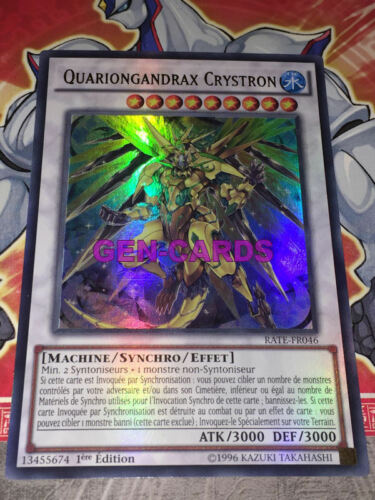 Carte YU GI OH QUARIONGANDRAX CRYSTRON RATE-FR046