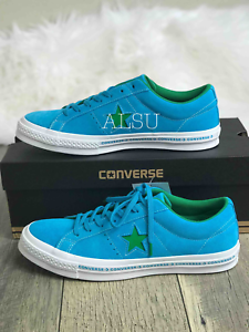 Sneakers-Men-039-s-Converse-One-Star-Suede-Hawaiian-Ocean-Blue-Low-Top