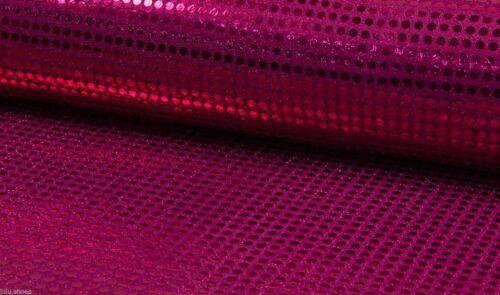Mousseux sequin tissu matériau glitter sparkle 6mm paillettes 115 cmwide framboise
