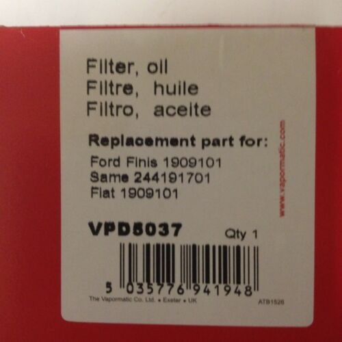 VPD5037 Also Fiat Same Ford Kubota Tractor Engine Oil Filter UTB Universal