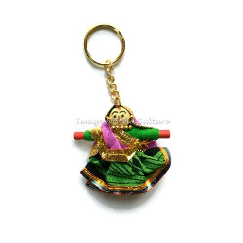 Handmade Designer Doll Keychain Indian Womens Keyring Online Wholesale Lot 50Pcs