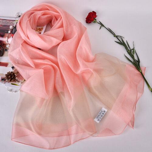 Mode Organza Seidenschal Frauen Strandtücher Foulard Übergroße Schals