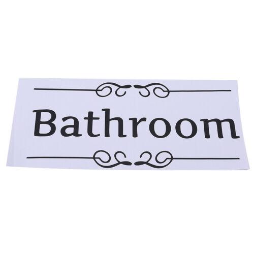 Funny Removable Bathroom Wall Door Stickers Toilet Quote Seat Art Vinyl SH