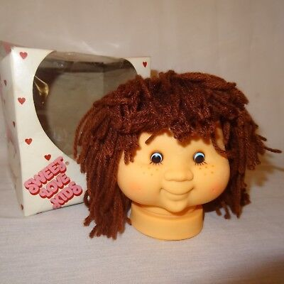 """Doll Head Brown Hair with Hands 6/"""" Old Stock Darice Girl 12839-12"""