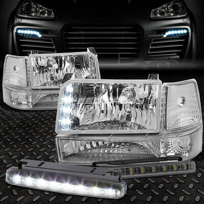 Driver and Passenger Headlights Headlamps Replacement for Ford Pickup Truck SUV F2TZ13008B F2TZ13008A