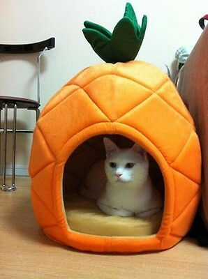 Cute Pineapple Pet Kennel Warm Pet Bed House Small Dog Cat Bed Puppy Bed House