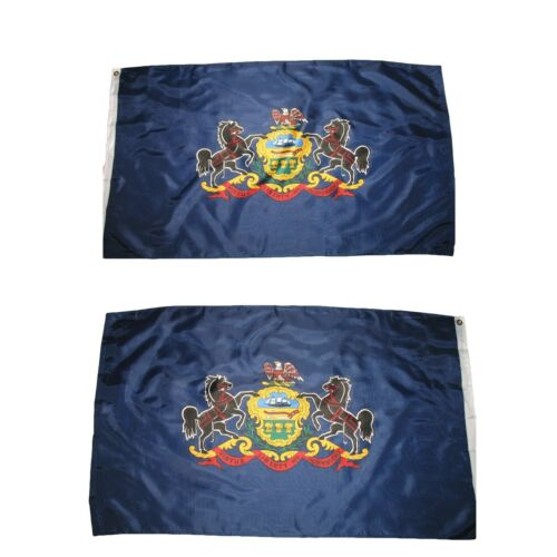 3x5 State of Pennsylvania Double Sided 2ply Premium Quality Flag House Banner