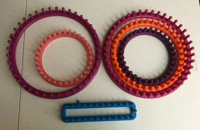 Knitting Looms Yarn Weave Ring Knitter Set Sock Scarf Hat Sweaters  Craft Tool