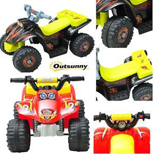 Quad Bateria 65x43x43cm 6V 2'5 km/h Moto Eléctrica 4 Ruedas Niño 3 Año Max 20Kg