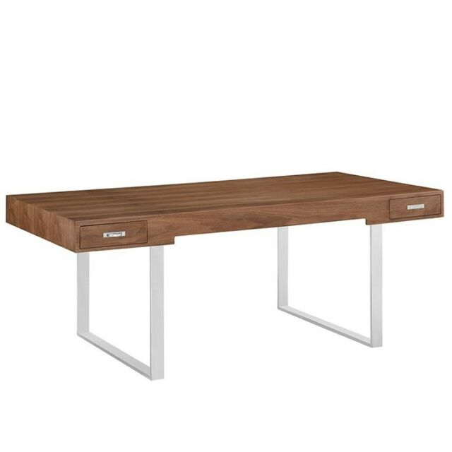 Modway Trove Office Desk In Dark Walnut