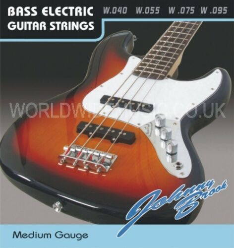 .055 .075 /& .095 Set of Johnny Brook Bass Guitar Strings Medium Gauge .040