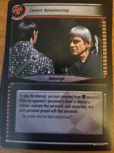 Star Trek CCG These Are the Voyages 12U34 Covert Relationship NrMint-Mint TCG