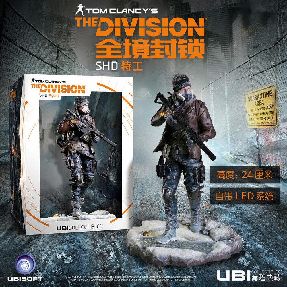 UBI ea la división SHD agente Tom Videojuego Figura Estatua con LED Toys 24cm En Caja