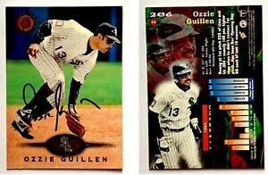 Ozzie-Guillen-Signed-1995-Stadium-Club-206-Card-Chicago-White-Sox-Autograph
