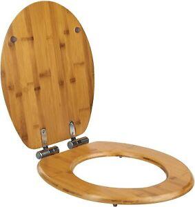 ONVAYA® WC-Sitz mit Absenkautomatik | Toilettensitz Toilettendeckel Bambus-Holz