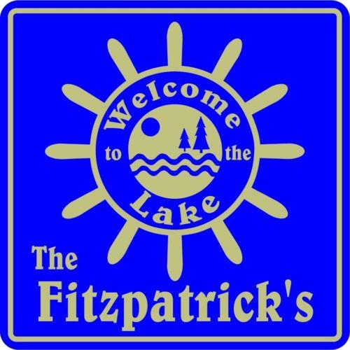 Personalized Custom Name Welcome To  Lake Home Nautical Marine Gift Sign #1
