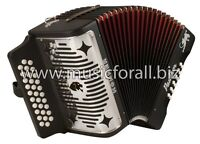 Hohner Panther A4840 31 Button Diatonic Accordion - Black Lacquer Musical Instruments