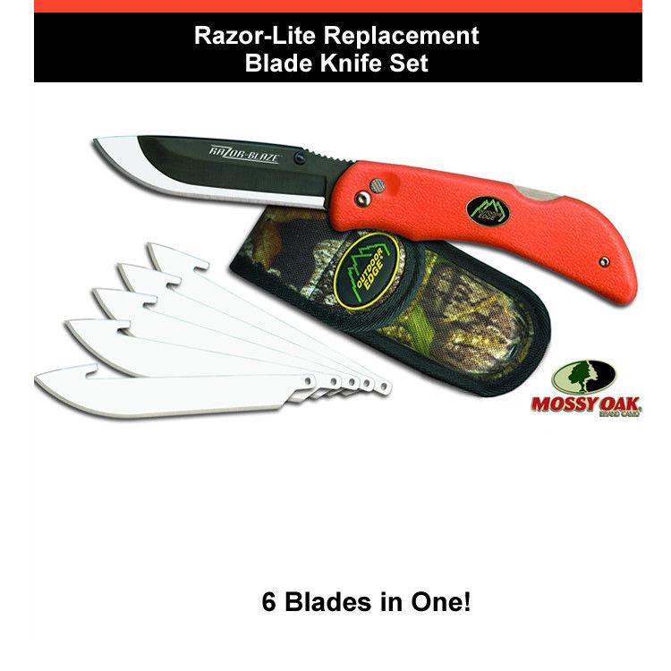 Razor-Lite Replacement Blade Knife System With 6 Blades - orange