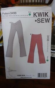 Oop-Kwik-Sew-sewing-pattern-3498-girls-yoga-exercise-stretch-pants-sz-4-14-NEW