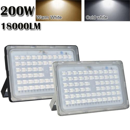 200W LED Flood Light Cool Warm White VIUGREUM Outdoor Spotlight Garden Yard Lamp