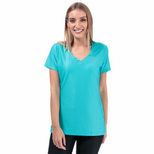 Womens Under Armour Ua Tech V-Neck T-Shirt In Blue