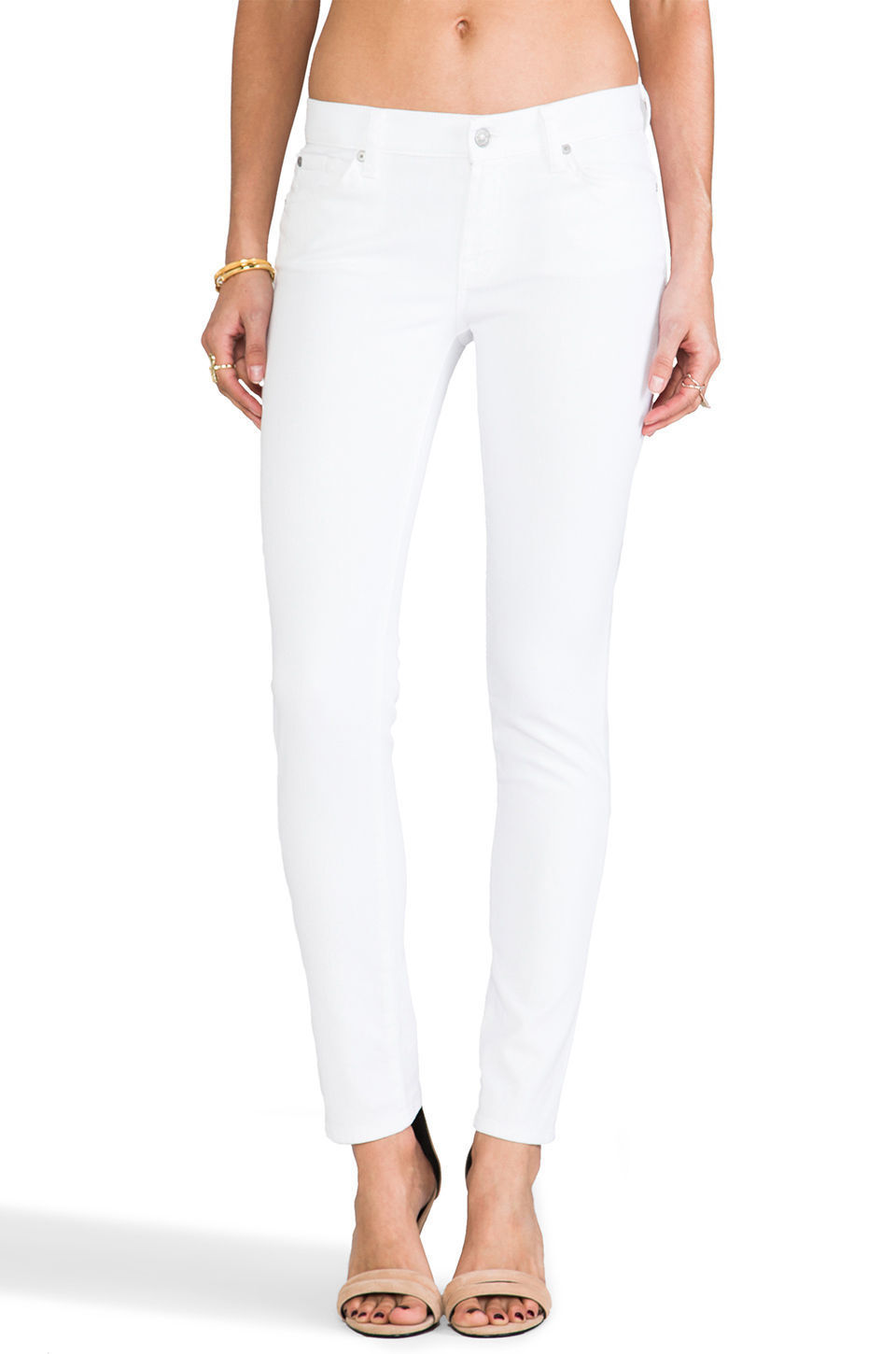 NWT 7 For All Mankind The Slim Cigarette Jeans, Wash - Clean White SIZE 29
