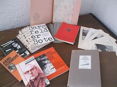 Bargfelder Bote Mit Register,konvolut Große Sammlung Arno Schmidt Bücher Hefte
