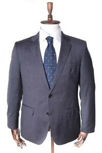 Men-039-s-TOMMY-HILFIGER-Tailored-Grey-100-Wool-Fitted-Guabello-Suit-Jacket-Size-25