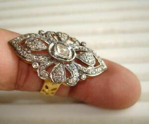 Victorian-2-11ct-Rose-Cut-Diamond-Sterling-Silver-Handmade-Finger-Ring
