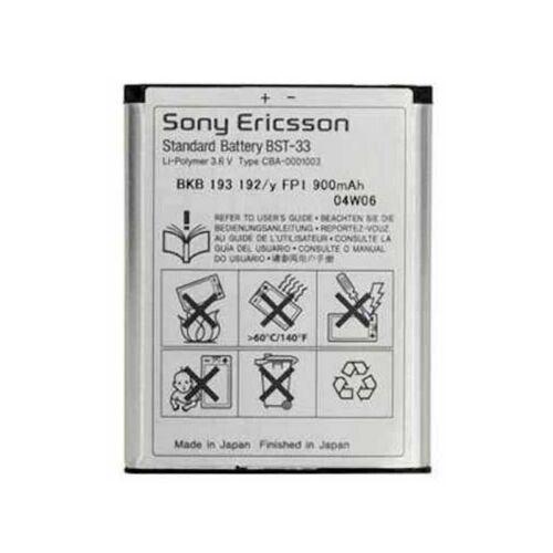 SONY ERICSSON BATTERIA ORIGINALE BST-33 BULK PER Z250I,Z320I,Z530I,Z610I,Z800I